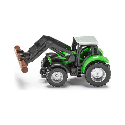 Siku Deutz Tractor with Log Grabber Scale Model 1:72