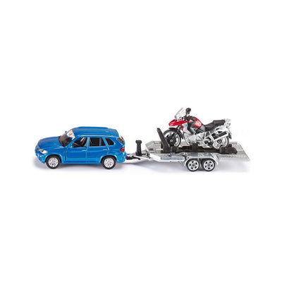 Siku BMW X5 with Motorcycle and Trailer Scale Model 1:55