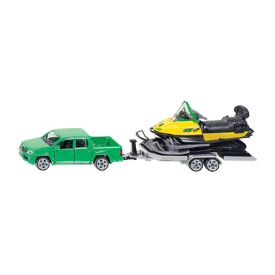 Siku VW Amarok with Snowmobile and Trailer Scale Model 1:55