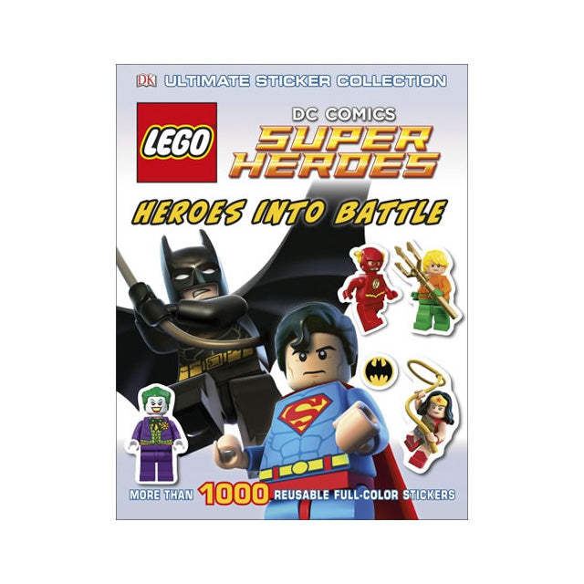 DK LEGO® DC Comics Super Heroes Heroes into Battle Ultimate Sticker Collection Book