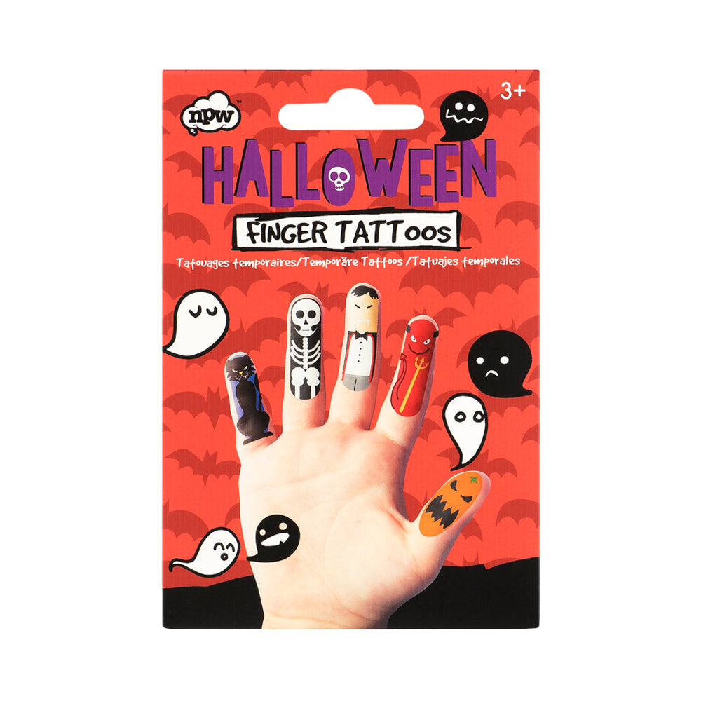 Halloween Finger Friends Tattoos