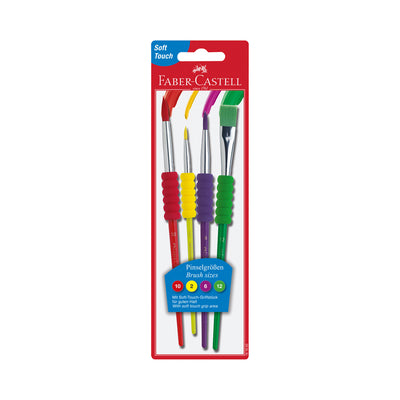 Faber-Castell Soft Touch Paintbrushes 4 Pack