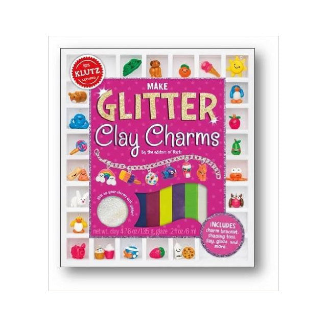 Klutz Make Glitter Clay Charms Book