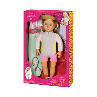 Our Generation Deluxe Coral 18'' Doll with Book