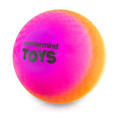 9'' Neon Rainbow Playground Ball