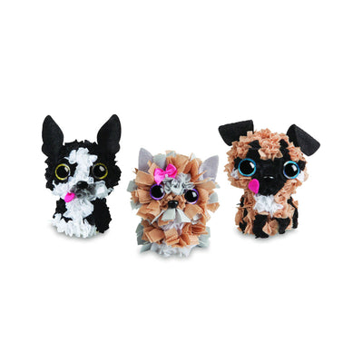 The Orb Factory Plush Craft 3D Puppy Pack