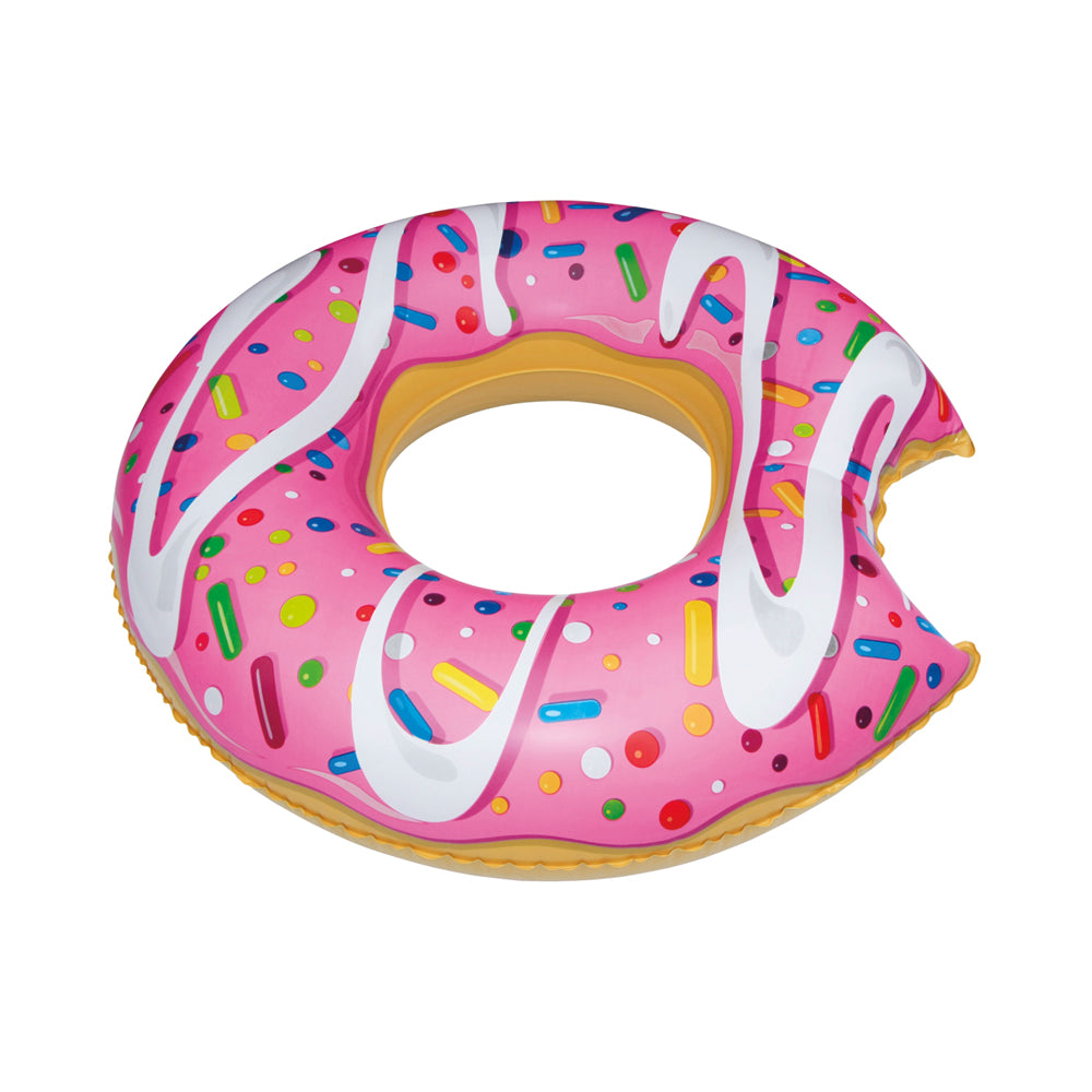 Giant Pink Donut with Bite Pool Float
