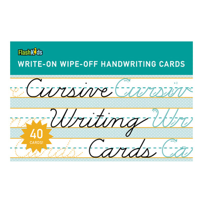 Cursive Write-On Wipe-Off Flash Cards