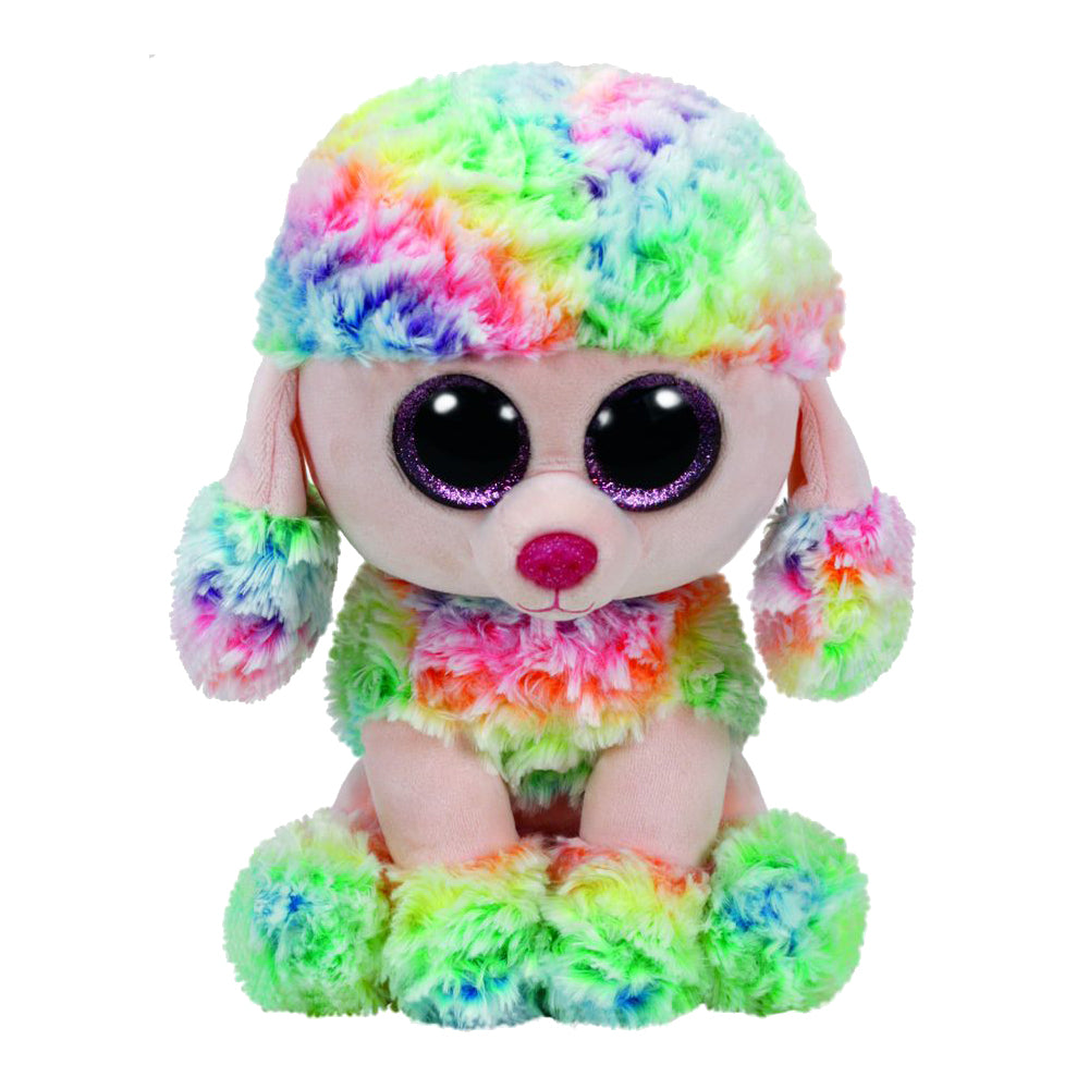 Ty Beanie Boos Medium Rainbow the Poodle