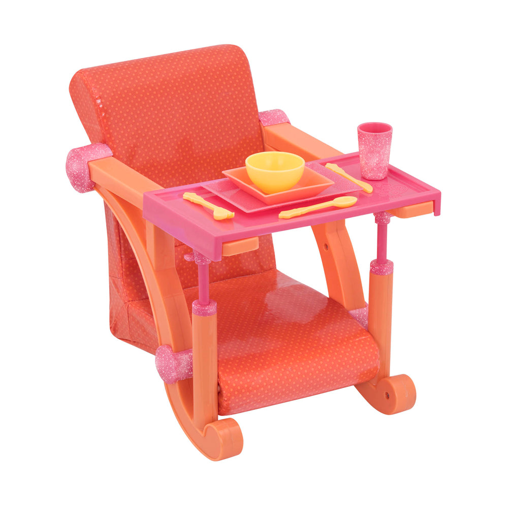 Our Generation Let's Hang Clip-On Chair Orange and Pink
