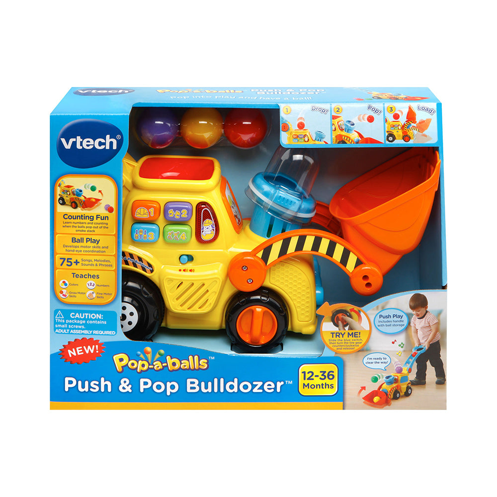 VTech Push and Pop Bulldozer