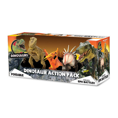 "Kid Galaxy 9"" Poseable Dinosaur Action 3-Pack"