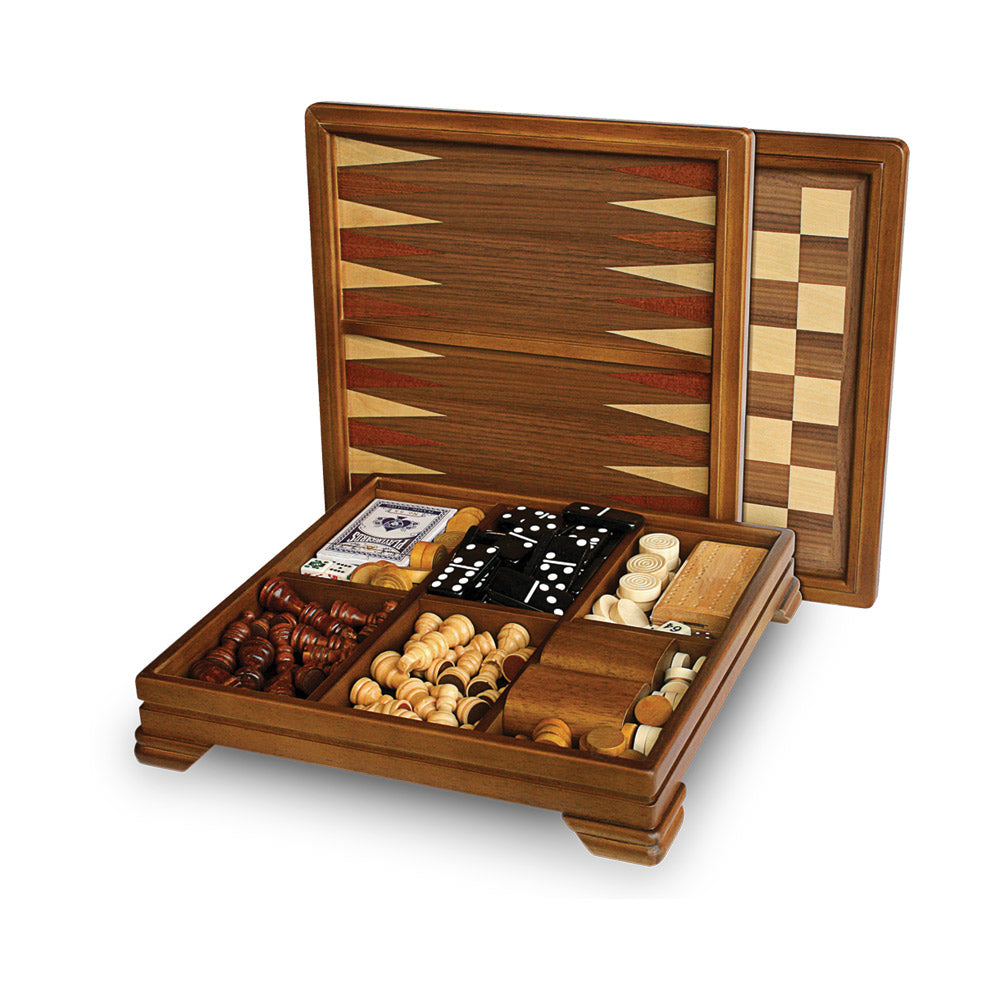 Wooden 7-in-1 Classic Game Set