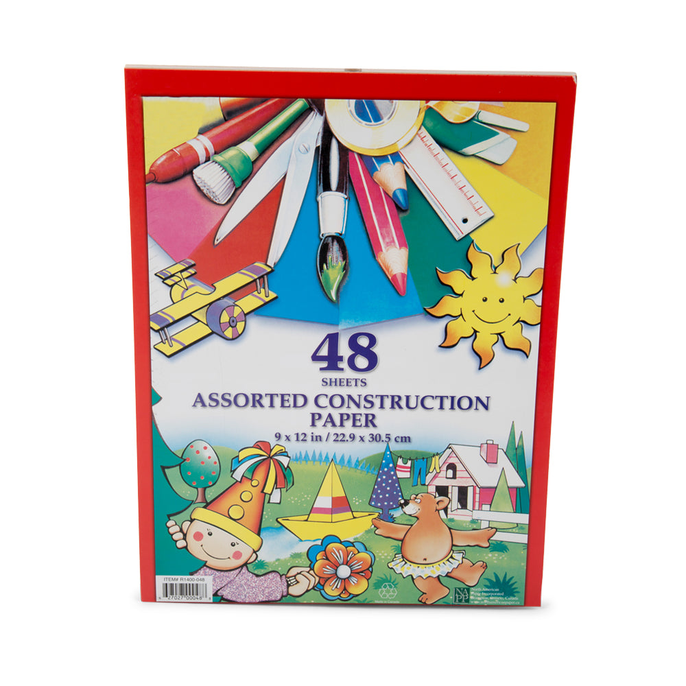 Coloured Construction Paper Pad 48 Sheets