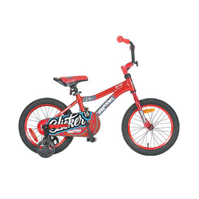 "BikeToons 16"" Click 'N Ride Bicycle - Red"