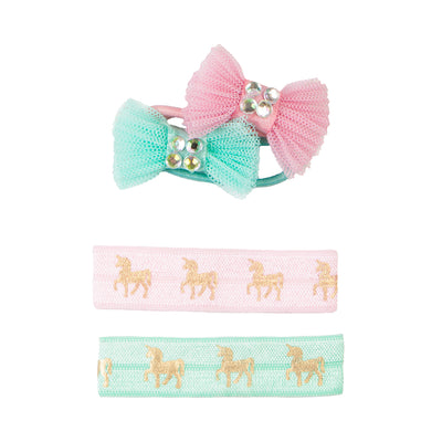 Great Pretenders Pink Unicorn Hair Ties & Bows Set