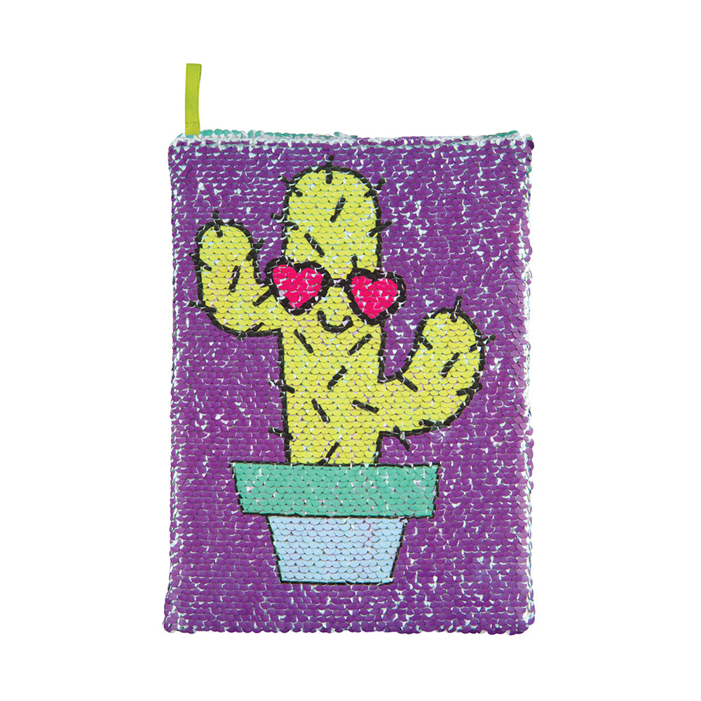 Fashion Angels Sequin Reveal Journal Cactus/Can't Touch This
