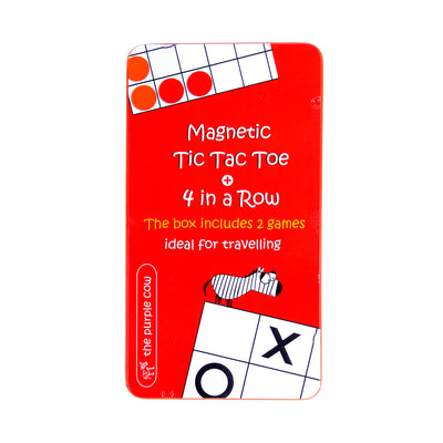 Magnetic Games To Go 4 in a Row & Tic Tac Toe