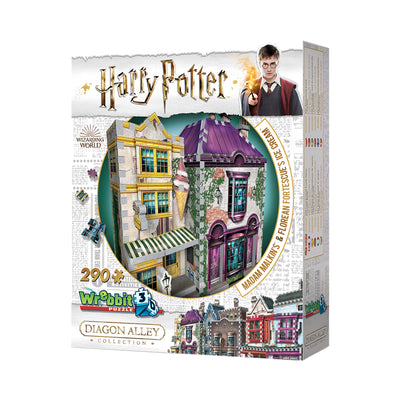 Wrebbit Harry Potter™ Madam Malkin's and Florean Fortescue's Ice Cream 3D Puzzle