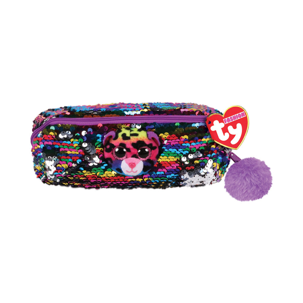 Ty Fashion Dotty the Leopard Sequin Pencil Bag
