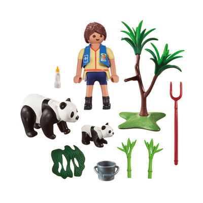 Playmobil City Life Panda Caretaker Carry Case Small