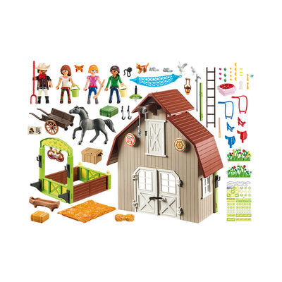 Playmobil DreamWorks Spirit Riding Free Barn with Lucky, Pru & Abigail