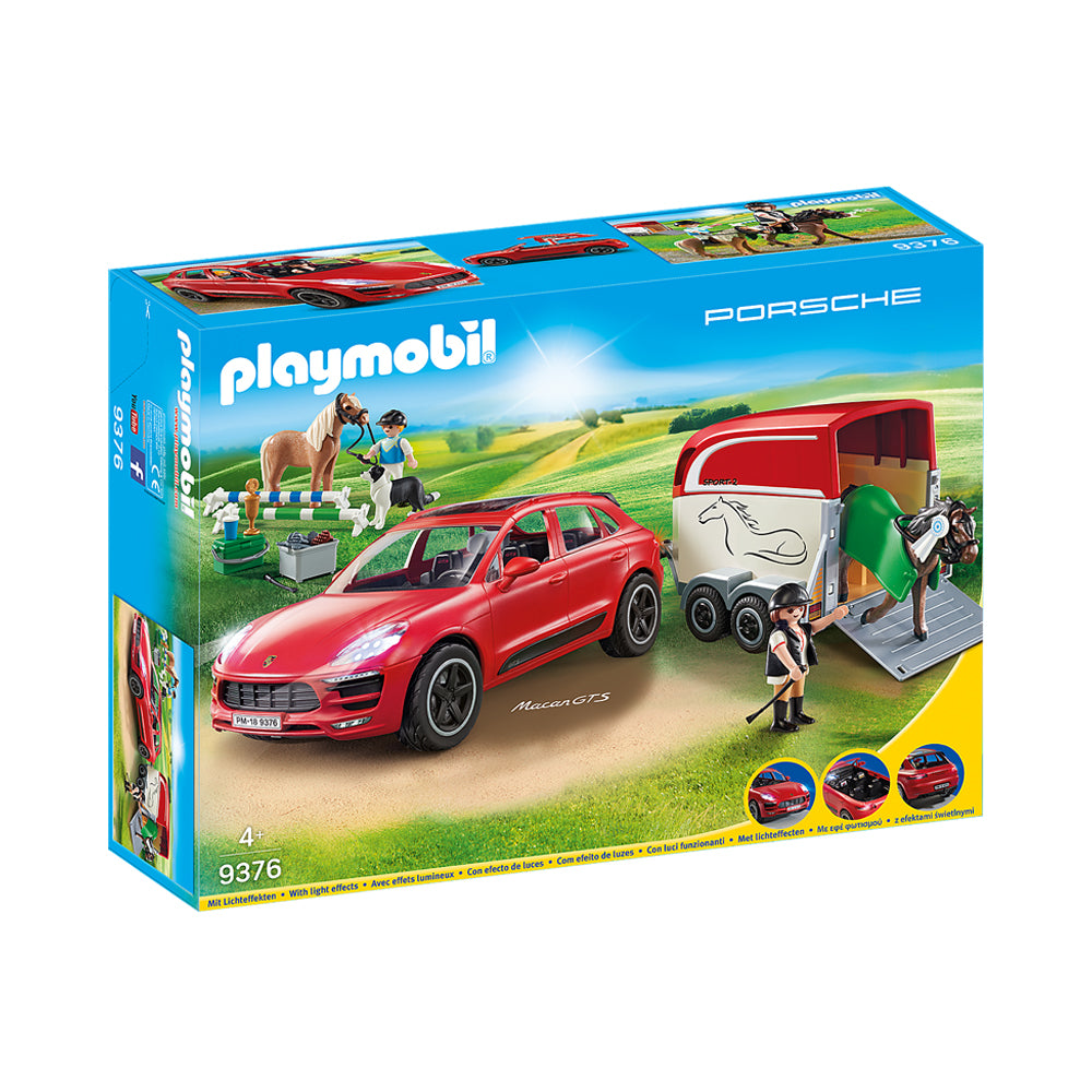 Playmobil Sports & Action Porsche Macan GTS with Horse Trailer