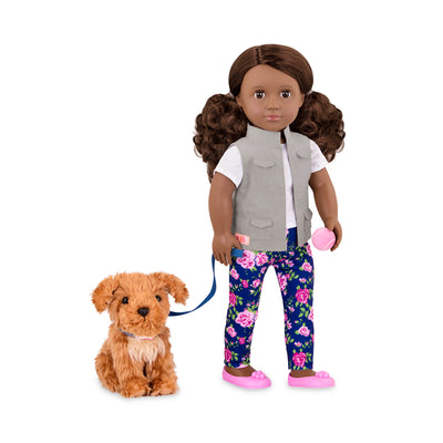 "Our Generation Malia 18"" Doll with Dog"
