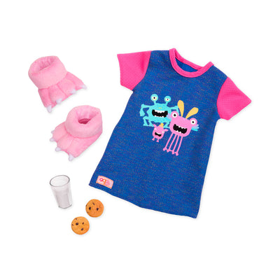 "Our Generation Snuggle Monster 18"" Pyjama Outfit"