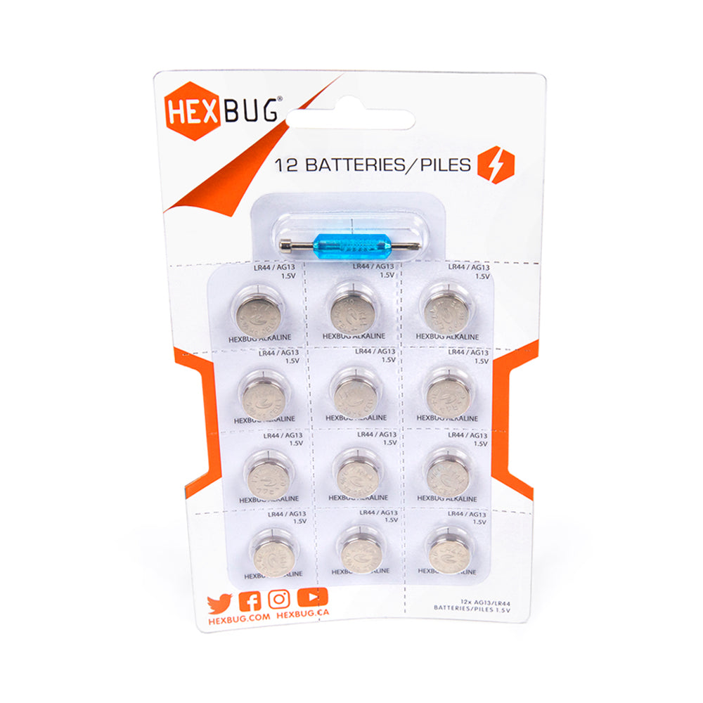 Hexbug Batteries 12 Pack with Screw Driver