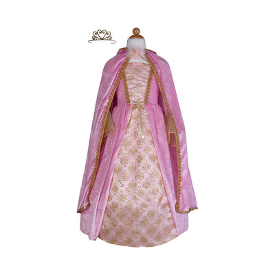 Great Pretenders Pink & Gold Princess Dress, Cape & Tiara