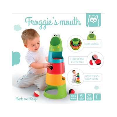 Owl Toys Stack and Drop Froggie's Mouth