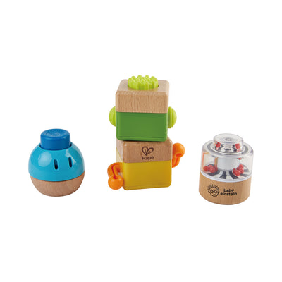 Hape Baby Einstein Four Fundamentals Wooden Sensory Set