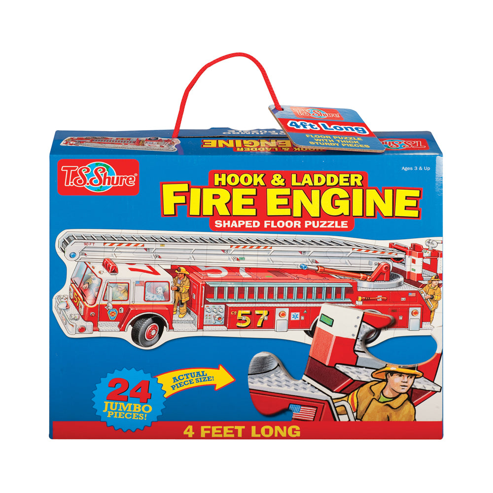 T.S. Shure® Hook & Ladder Fire Engine Shaped 24pc Floor Puzzle