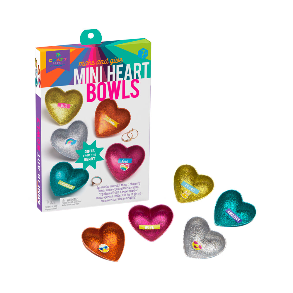 Craft-tastic Make and Give Mini Heart Bowls