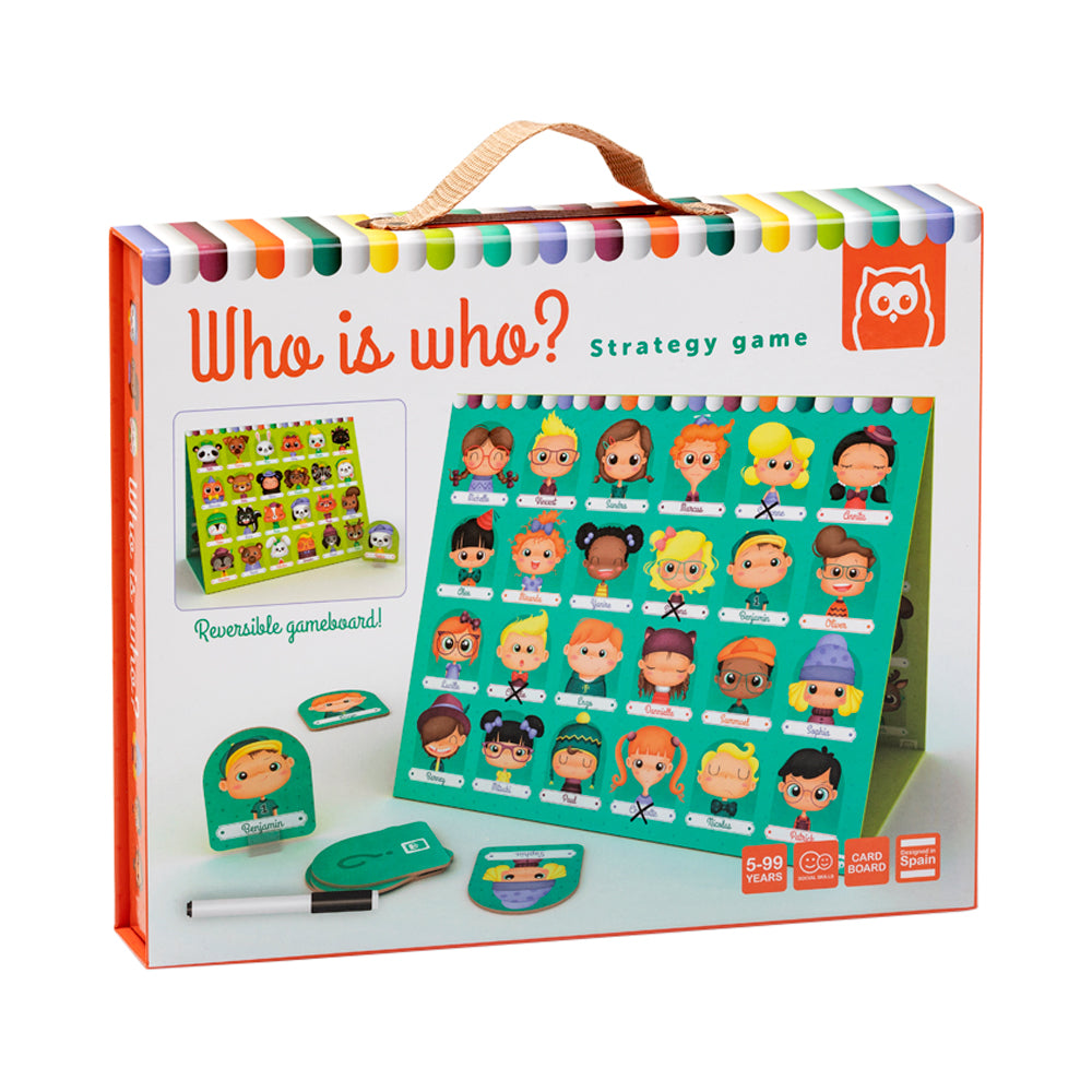 Owl Toys Who is Who? 2-in-1 Strategy Game