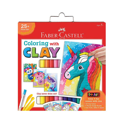 Faber-Castell Do Art Colouring with Clay Unicorn & Friends