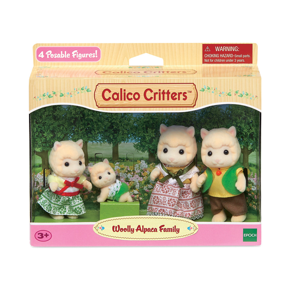 Calico Critters Wooly Alpaca Family