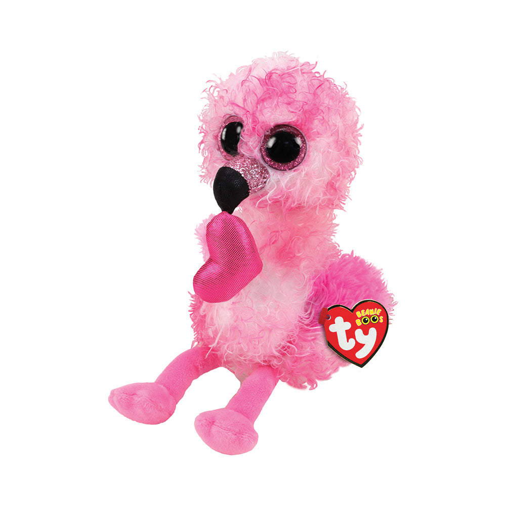 Ty Beanie Boos Medium Dainty the Flamingo