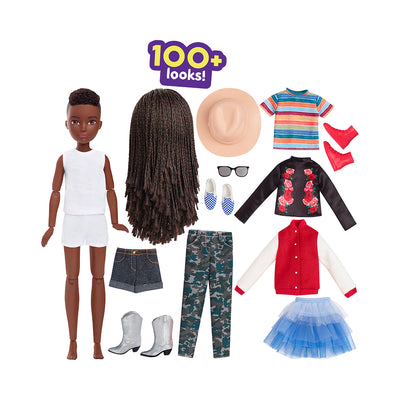 Creatable World™ Deluxe Character Kit Customizable Doll - Black Braided Hair