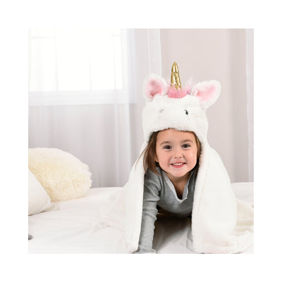 Hooded Unicorn Character Blanket