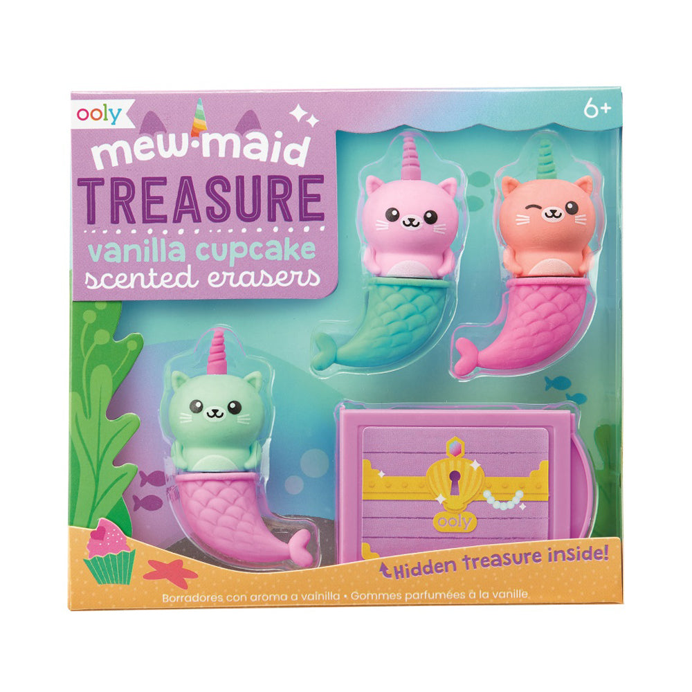 Ooly Mew-maid Treasure Scented Erasers