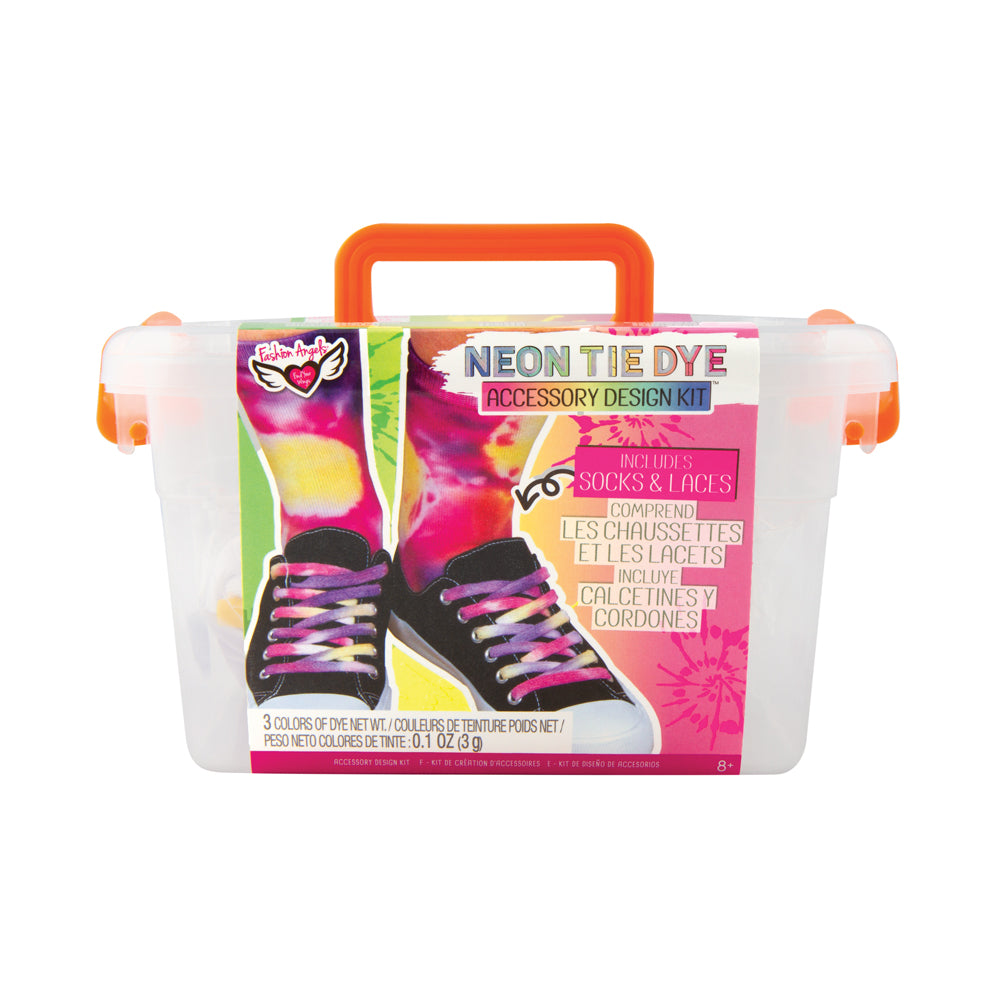 Fashion Angels Neon Tie Dye Socks & Shoelaces Accessory Design Kit