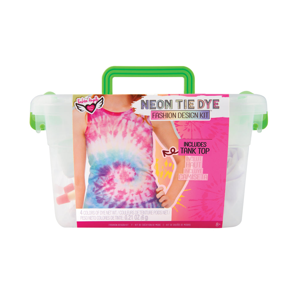 Fashion Angels Neon Tie Dye Tank Top Fashion Design Kit