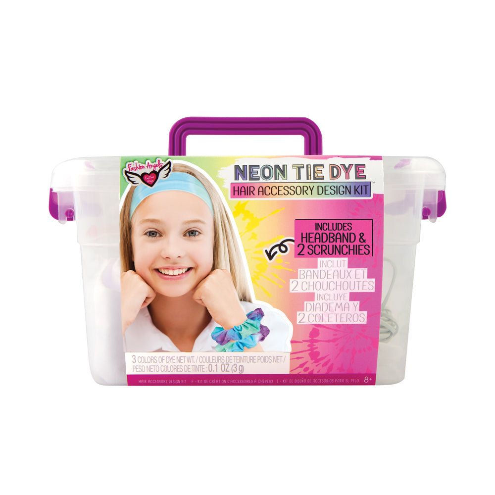 Fashion Angels Neon Tie Dye Hair Accessory Design Kit