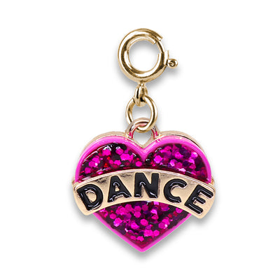 CHARM IT! Gold Glitter Dance Heart Charm