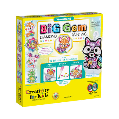 Creativity for Kids Big Gem Diamond Painting: Woodland