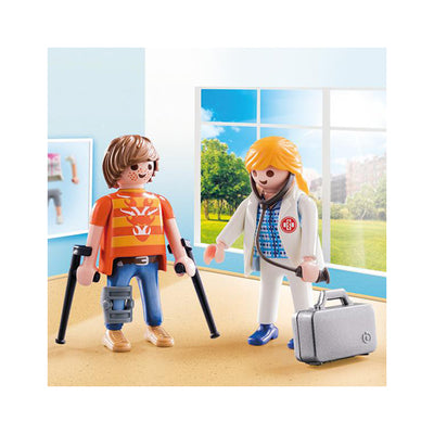 Playmobil City Life Doctor and Patient