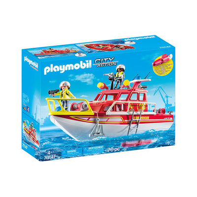 Playmobil City Action Fire Rescue Boat