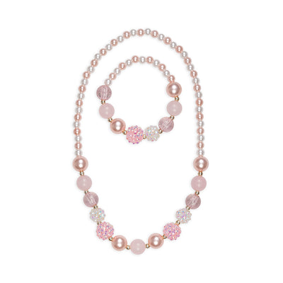 Great Pretenders Pinky Pearl Necklace and Bracelet Set